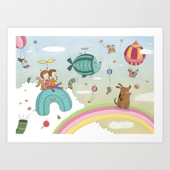 CANDIES WORLD Art Print