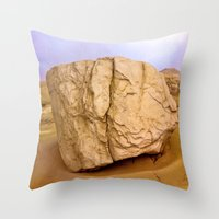 30 rock Throw Pillows featuring THE ROCK by Bruce Stanfield