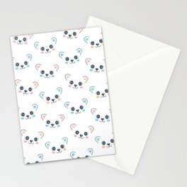 Cute Bear Cub Face Stationery Cards