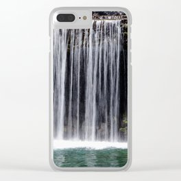 Over the Waterfall Clear iPhone Case