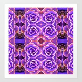 Purple Succulent Art Print