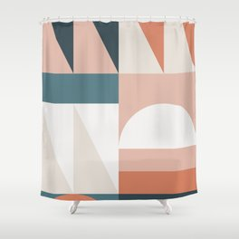Cirque 05 Abstract Geometric Shower Curtain