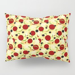 Pizza Toppings Pattern Pillow Sham