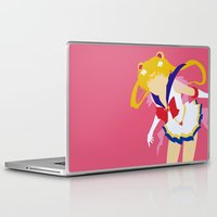 sailor moon Laptop & iPad Skins featuring Sailor Moon by Polvo