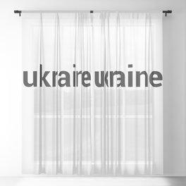 ukraine Sheer Curtain
