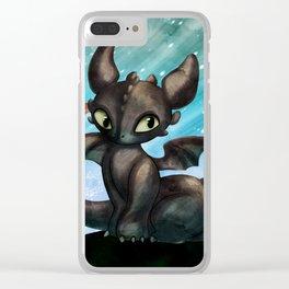 Dragon sans dent Clear iPhone Case