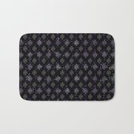 Endless Knot pattern - Silver and Amethyst Bath Mat