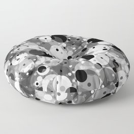 Floating Particles in Space Floor Pillow