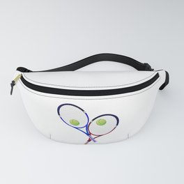 Tennis Racket And Ball Doubles Fanny Pack