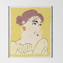 Knock Knock! Nayeon Yellow Throw Blanket