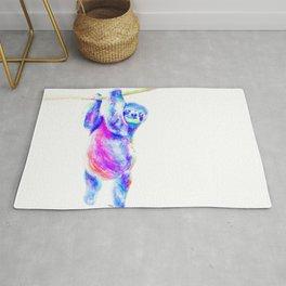Colorful Sloth Art Rug