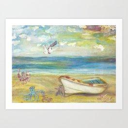 Life Guard on Duty Art Print