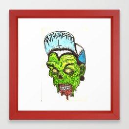 Rutherbird Zombie Framed Art Print