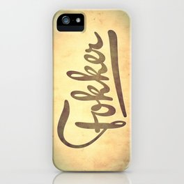 FOKKER! iPhone Case