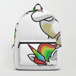 Dabbing Unicorn Hockey Funny Dancing Dab Gift Backpack