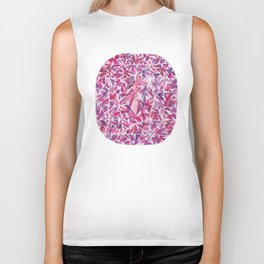 Pink Purple Cushion Gem Biker Tank