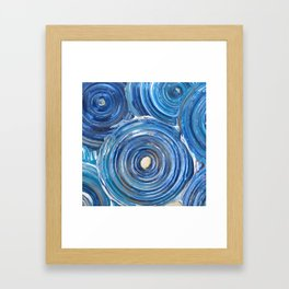 Blue Swirls Framed Art Print
