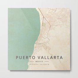 Puerto Vallarta, Mexico - Vintage Metal Print