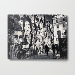 Rock n Roll Streets Metal Print