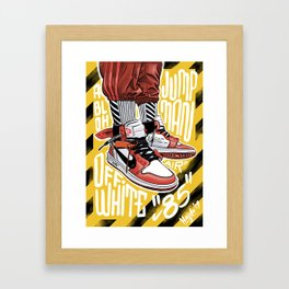Off-White X Jumpman 1 Framed Art Print