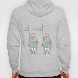 Knights in armour with shield and sword. Hoody