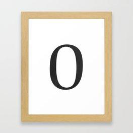 Number 0 (Black) Framed Art Print