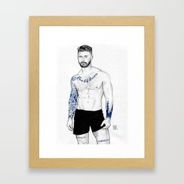 Blue Porcelain - Kyle Framed Art Print