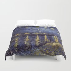 Vincent Van Gogh Starry Night Over The Rhone Duvet Cover