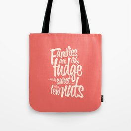 Families - red Tote Bag