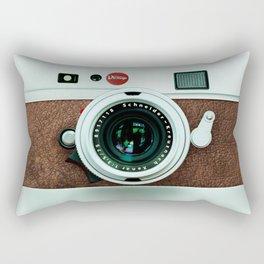 Retro vintage leather camera Rectangular Pillow