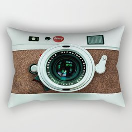 Retro vintage leather camera Rectangular Pillow