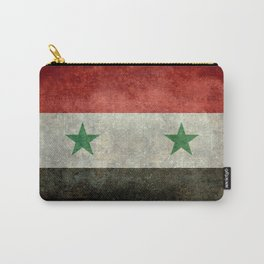 National flag of Syria - vintage Carry-All Pouch