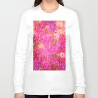 shabby chic Long Sleeve T-shirts featuring Pink and Red Vintages Roses So Shabby Chic by Saundra Myles