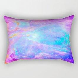 Orion nebulA : Bright Pink & Aqua Rectangular Pillow