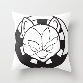 Starfoxxx BW Throw Pillow