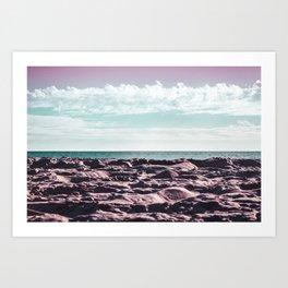Pinksy Beachy Art Print