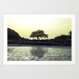 a tree in palolem Art Print