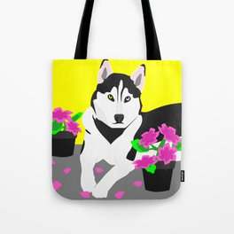 Luke The Husky Tote Bag