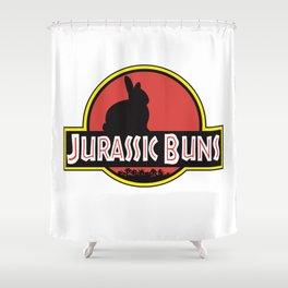 JURASSIC BUNS Shower Curtain