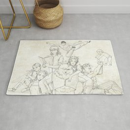 Dungeons and Dragons Group Rug