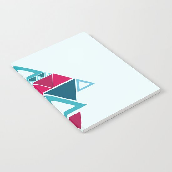 a few triangles making a pattern Notebook