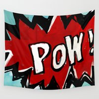 comic book Wall Tapestries featuring Comic Book: Pow! by Ed Pires