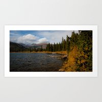 Mountain Lake in Autumn Art Print