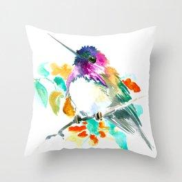 Cute Little Hummingbird Throw Pillow