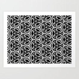 Funky Pattern Art Print