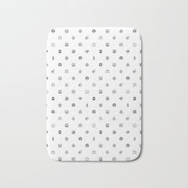 Super Mario Items White Bath Mat