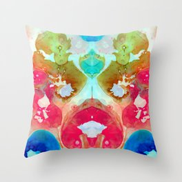 I Found Your Dog - Art By Sharon Cummings Throw Pillow