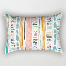 GOOD REACTION Brushstroke Stripe Rectangular Pillow