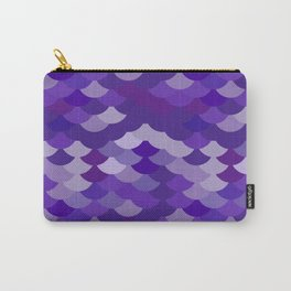 Ultra Violet wave, abstract simple background with japanese seigaiha circle pattern Carry-All Pouch