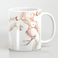aries Mugs featuring Aries by Nathalie Vessillier